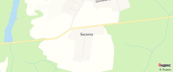 Карта деревни Бызихи в Кировской области с улицами и номерами домов