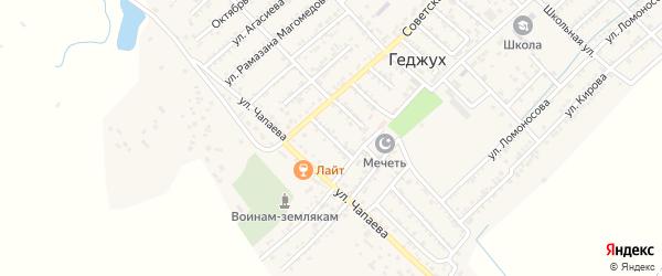 Улица Матросова на карте села Геджуха Дагестана с номерами домов