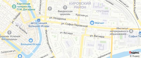 Улица Круглова на карте Астрахани с номерами домов