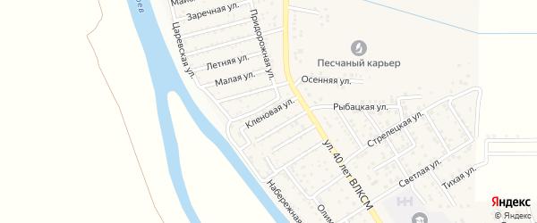 Кленовая улица на карте поселка Кирпичного Завода N1 Астраханской области с номерами домов