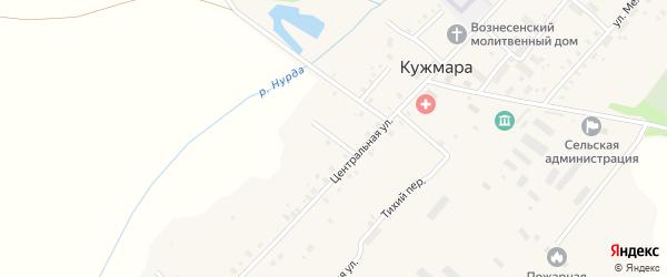 Луговой переулок на карте села Кужмары Марий Эл с номерами домов
