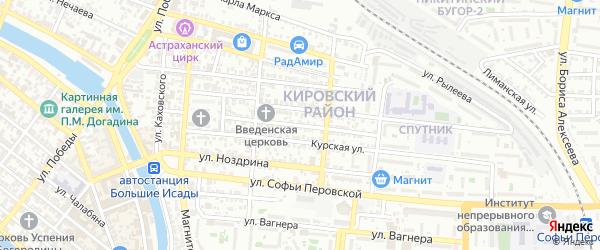 Чебоксарская улица на карте Астрахани с номерами домов