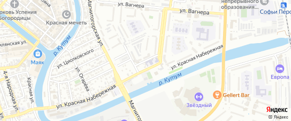 Улица Фурманова на карте Астрахани с номерами домов
