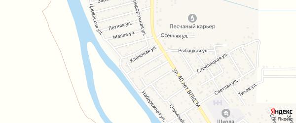 Цветочная улица на карте поселка Кирпичного Завода N1 Астраханской области с номерами домов