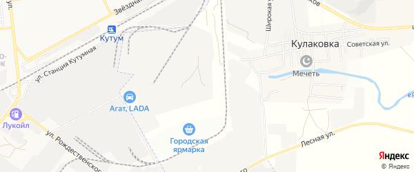 Карта промышленной зоны Кулаковского промузел в Астраханской области с улицами и номерами домов