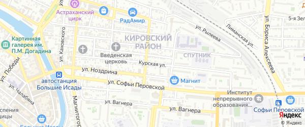 Курская улица на карте Астрахани с номерами домов