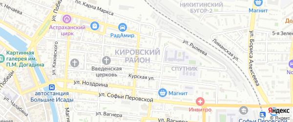 Улица Белинского на карте Астрахани с номерами домов