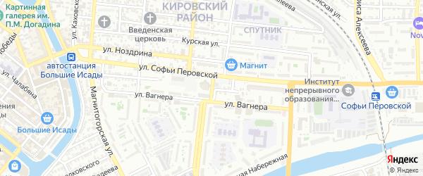 Кутумная улица на карте Астрахани с номерами домов