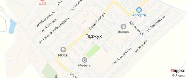 Улица К.Маркса на карте села Геджуха Дагестана с номерами домов