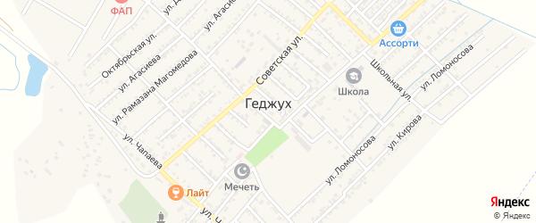 Октябрьская улица на карте села Геджуха Дагестана с номерами домов