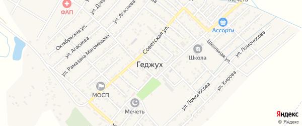 Таминская улица на карте села Геджуха Дагестана с номерами домов
