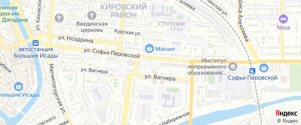 Мопровская улица на карте Астрахани с номерами домов