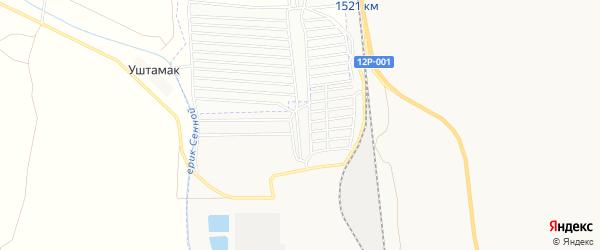 Садовое товарищество Швейник на карте Астрахани с номерами домов