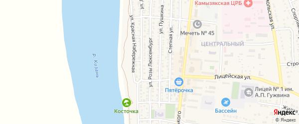 Улица Розы Люксембург на карте Камызяка с номерами домов