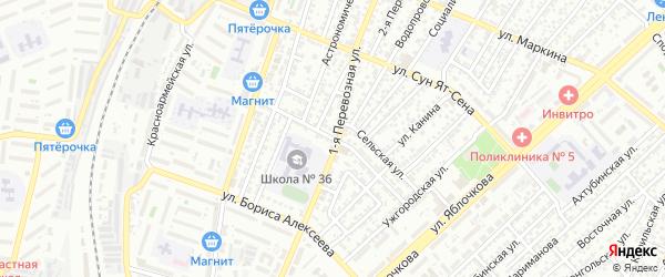 Аткарская улица на карте Астрахани с номерами домов