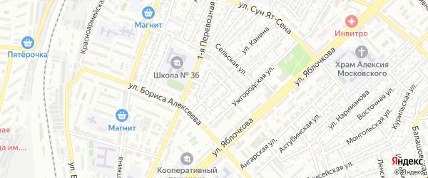 Камышинская улица на карте Астрахани с номерами домов