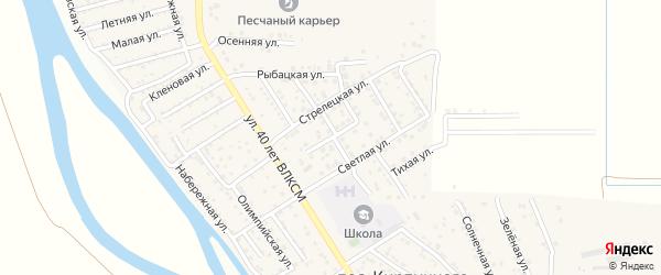 Улица 1 Сентября на карте поселка Кирпичного Завода N1 Астраханской области с номерами домов