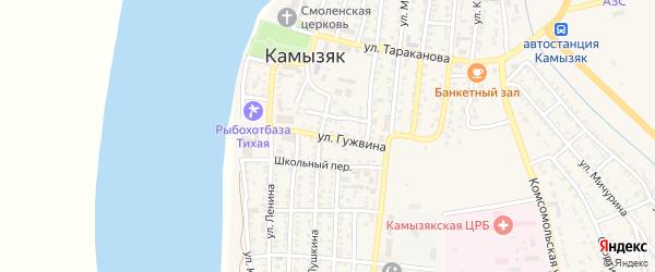 Улица А.П.Гужвина на карте Камызяка с номерами домов