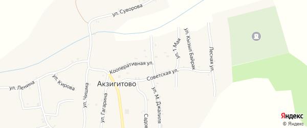 Улица Победы на карте села Акзигитово Татарстана с номерами домов