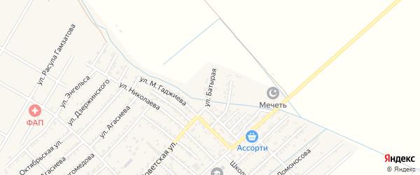 Батырая улица на карте села Геджуха Дагестана с номерами домов