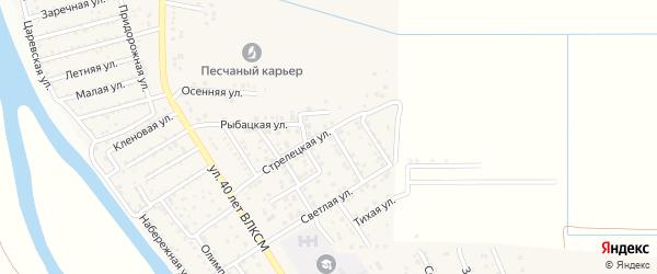 Ровная улица на карте поселка Кирпичного Завода N1 Астраханской области с номерами домов
