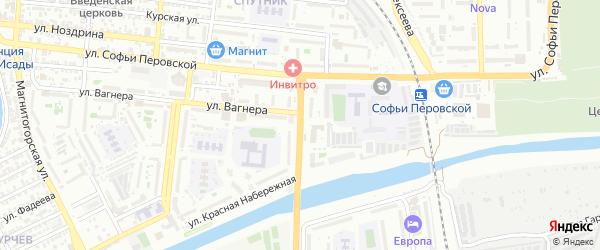Студенческая улица на карте Астрахани с номерами домов