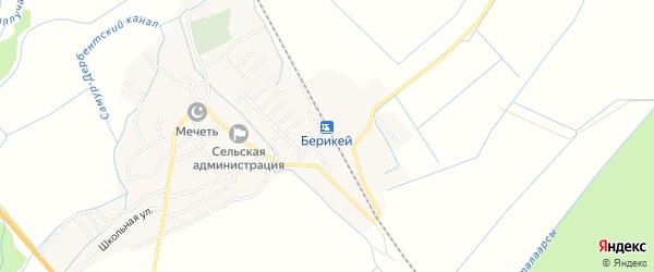 Карта села Берикея в Дагестане с улицами и номерами домов