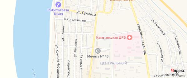 Улица Максима Горького на карте Камызяка с номерами домов