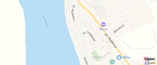 Переулок Матросова на карте Камызяка с номерами домов