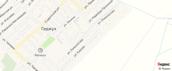 Улица Ломоносова на карте села Геджуха Дагестана с номерами домов