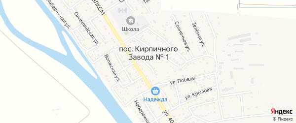 Североморская улица на карте поселка Кирпичного Завода N1 Астраханской области с номерами домов