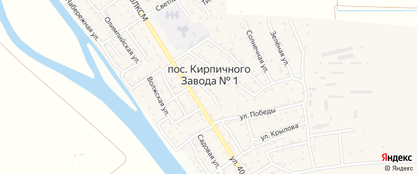 Луговой проезд на карте поселка Кирпичного Завода N1 Астраханской области с номерами домов