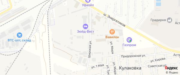 Широкая улица на карте промышленной зоны Кулаковского промузел Астраханской области с номерами домов