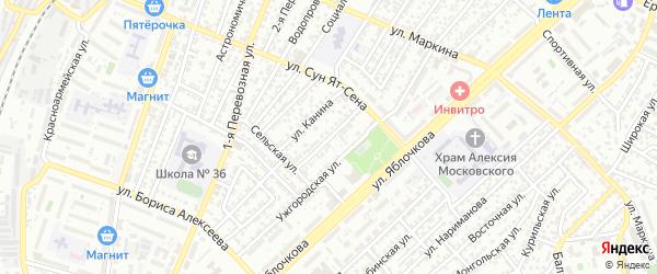 Черновицкая улица на карте Астрахани с номерами домов