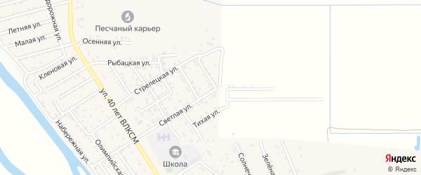 Восточная улица на карте поселка Кирпичного Завода N1 Астраханской области с номерами домов