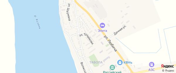 Улица Тулайкова на карте Камызяка с номерами домов