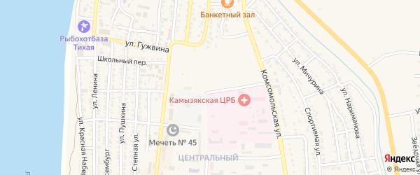 Улица Моторина на карте Камызяка с номерами домов