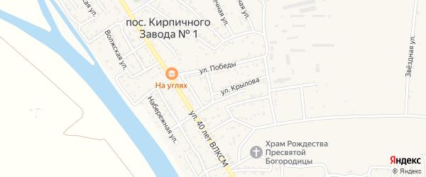 2-й Пионерский переулок на карте поселка Кирпичного Завода N1 Астраханской области с номерами домов