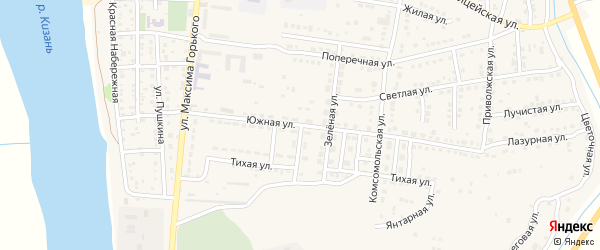 Южная улица на карте Камызяка с номерами домов