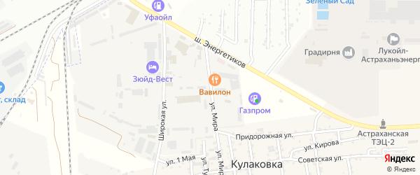 Улица Мира на карте промышленной зоны Кулаковского промузел Астраханской области с номерами домов