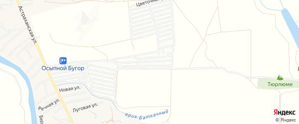 Садовое товарищество Монтажник на карте Астрахани с номерами домов