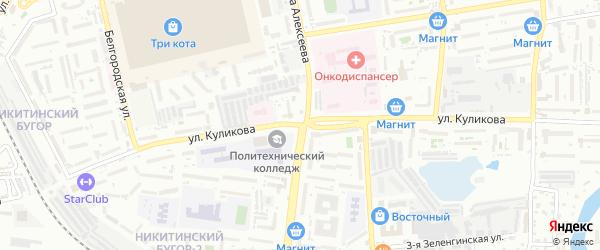 Улица Куликова на карте Астрахани с номерами домов