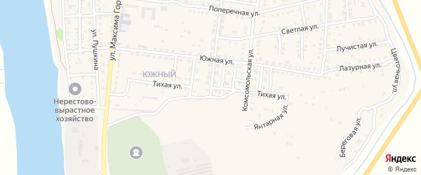 Тихая улица на карте Камызяка с номерами домов