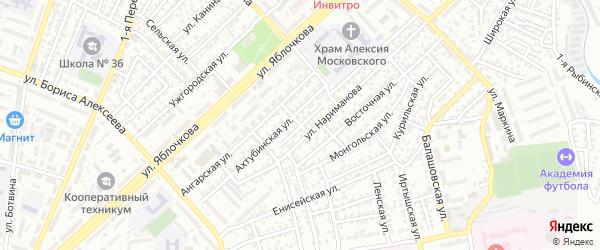 Енотаевский переулок на карте Астрахани с номерами домов