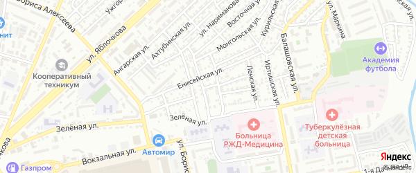 Казахстанская улица на карте Астрахани с номерами домов