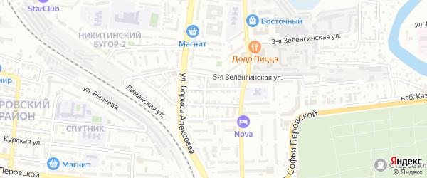 4-я Зеленгинская улица на карте Астрахани с номерами домов