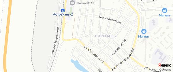 3-я Железнодорожная улица на карте Астрахани с номерами домов