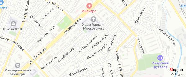 Улица Нариманова на карте Астрахани с номерами домов