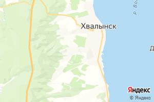 Карта г. Хвалынск Саратовская область