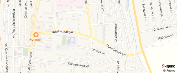 Лицейская улица на карте Камызяка с номерами домов